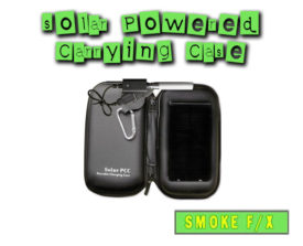 Solar powered e-cigarette carrying case